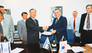 August 1996, Extra-high voltage cable export agreement with Israel