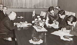 February 1971, Joint technology agreement with Hitachi Cable, Ltd.